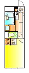 近鉄南大阪線 恵我ノ荘駅 徒歩27分の賃貸アパート 1階1Kの間取り