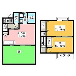 [テラスハウス] 愛知県北名古屋市西之保中屋敷 の賃貸【/】の間取り