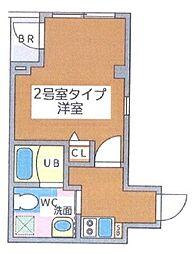 東京都中央区湊2丁目の賃貸マンションの間取り