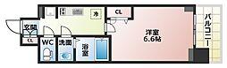 Osaka Metro谷町線 四天王寺前夕陽ヶ丘駅 徒歩6分の賃貸マンション 6階1Kの間取り