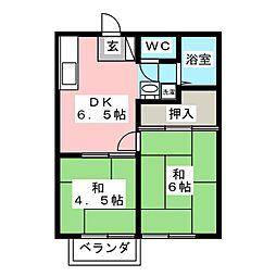 ケニーハウスA[2階]の間取り