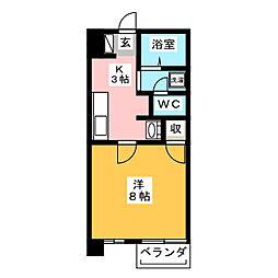 朝日プラザ静岡古庄[2階]の間取り
