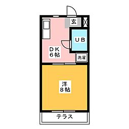 ヴィラ寺ヶ谷I[3階]の間取り