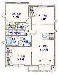 シャーメゾンサンフローリッシュplus[2階]の間取り