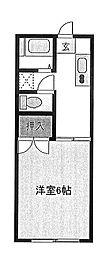 ラヴニールミモミ[2階]の間取り