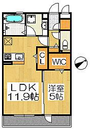 大阪府堺市堺区向陵西町4丁の賃貸アパートの間取り