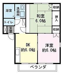 エステートピア三澤A[0202号室]の間取り