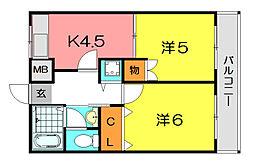 KT−14[4階]の間取り