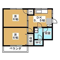宝木町ハウス[3階]の間取り