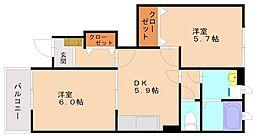ラッフィナート2[1階]の間取り