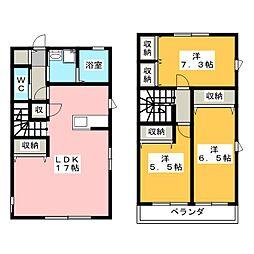 [テラスハウス] 静岡県浜松市浜北区中瀬 の賃貸【/】の間取り