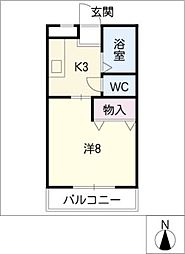 フローラヤゴト[1階]の間取り