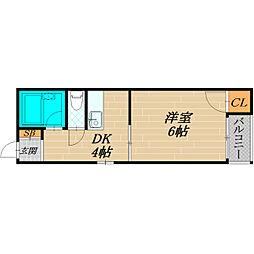 ミヤックス千林[1階]の間取り