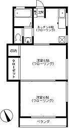 第四井上荘[201号室号室]の間取り