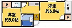 レヂーナ萱島[3階]の間取り