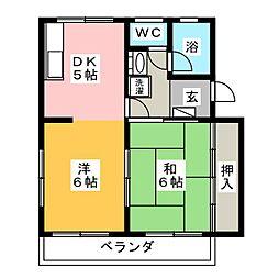 セントヒル[2階]の間取り