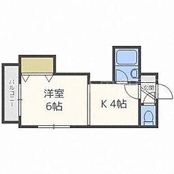北海道札幌市豊平区平岸四条13丁目の賃貸マンションの間取り