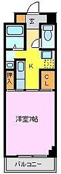 広島県東広島市西条栄町の賃貸マンションの間取り