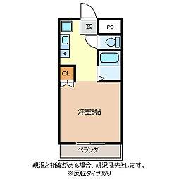 開運ハイツ南俣[2階]の間取り