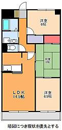 愛知県名古屋市千種区城山町1丁目の賃貸マンションの間取り
