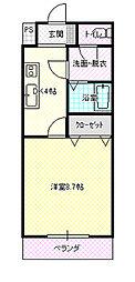 茨城県水戸市若宮2丁目の賃貸アパートの間取り