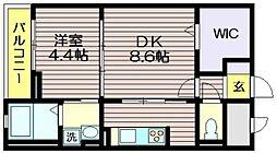 東京都調布市西つつじケ丘4の賃貸マンションの間取り