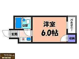 大阪府堺市中区新家町の賃貸マンションの間取り