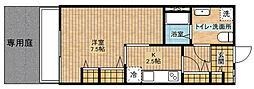 第一庄司荘[102号室]の間取り