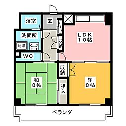 シーアイマンション丸の内[5階]の間取り