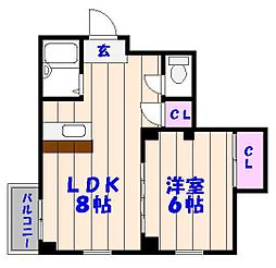 千葉県船橋市西船7丁目の賃貸マンションの間取り