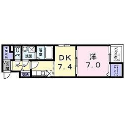 東京都練馬区南田中4丁目の賃貸マンションの間取り