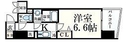 JR東海道・山陽本線 元町駅 徒歩9分の賃貸マンション 6階1Kの間取り