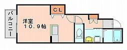 アダージョ美野島[1階]の間取り