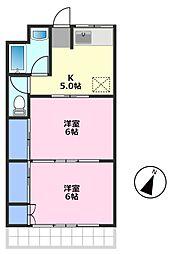 大畑マンション[2階]の間取り