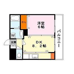 都市ガスアヴァンセ草津〜2〜[1階]の間取り