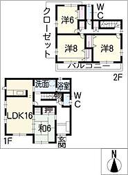 [一戸建] 愛知県春日井市出川町8丁目 の賃貸【/】の間取り