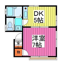 ハイツカトウ[2階]の間取り