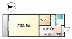 flat福井B棟[1階]の間取り