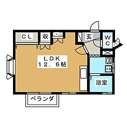 コーポクレイン[1階]の間取り