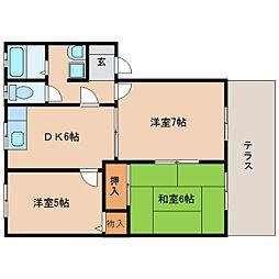 静岡県静岡市清水区青葉町の賃貸アパートの間取り