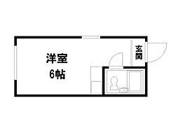 キュービックハウス[3階]の間取り