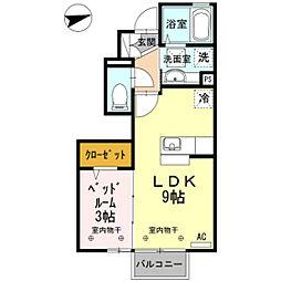 Center Link[1階]の間取り