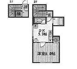 瀬古ハウス[201号室号室]の間取り