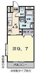 リバーサイドII[302号室]の間取り