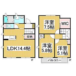 [テラスハウス] 長野県松本市平田東2丁目 の賃貸【/】の間取り