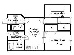 サンハイムII[1階]の間取り