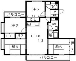 カーサ峰塚[302号室号室]の間取り