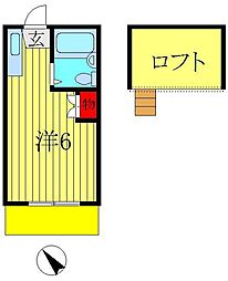 ロフティドリームNO1・2[2-202号室]の間取り
