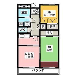 パレ・ソレイユ[4階]の間取り