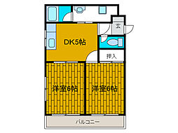カオスフジミ[2階]の間取り